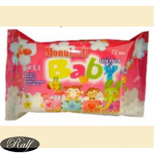 Monuk'all Baby - servetele umede pentru copii ( ambalaj roz )
