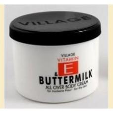 Village Buttermilk - crema de corp cu lapte batut si vitamina e