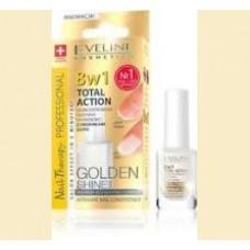 Eveline - 8 in 1 Total Action Golden Shine - tratament pentru unghii