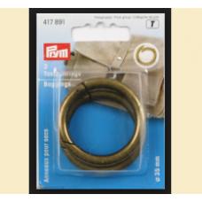 Inel pentru geanta, culoare auriu, 35 mm - Prym 417891