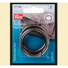 Inel pentru geanta, culoare argintiu antic, 35 mm - Prym 417892