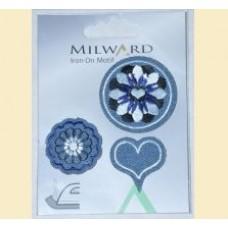 Emblema autocolanta flori si inimioara - Milward