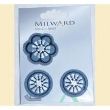 Emblema autocolanta flori jeans - Milward