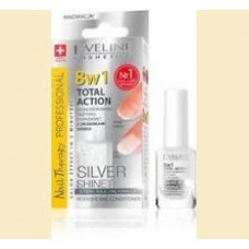 Eveline - 8 in 1 Total Action Silver Shine - tratament pentru unghii